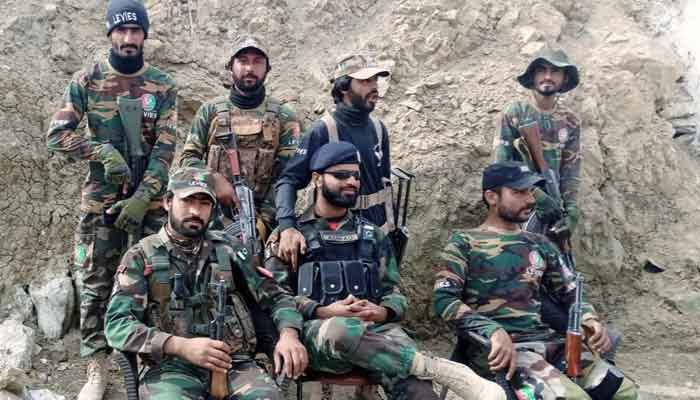 A group of soldiers from the Balochistan Levies force. — Facebook/Balochistan Levies